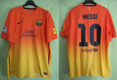 Maillot Barcelone FCB Barcelona Qatar Foundation Nike vintage Messi Jersey  - XL 1ed7db55311