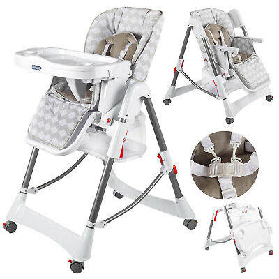 Highchair Feeding Recliner Seat Foldable Baby Toddler Infant KINDERSAFETY KP0004