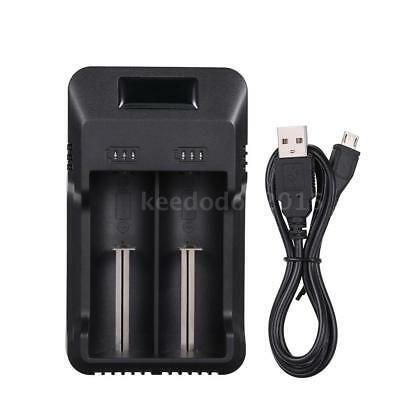 Universal 2 Slots Smart Battery Charger with LED Indicator Light X0T3