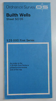 1965 Old Vintage OS Ordnance Survey 1:25000 First Series Map SO 05 Builth Wells