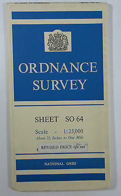 1960 old vintage OS Ordnance Survey 1:25000 First Series Map SO 64 Castle Frome