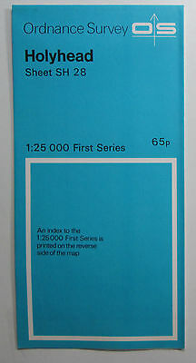 1972 old vintage OS Ordnance Survey 1:25000 First Series map SH 28 Holyhead