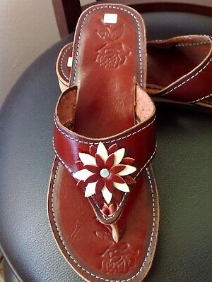 e2225b6faa17c Authentic Leather Mexican Sandal Huaraches Women Handmade Size 8 Flip Flop  Style