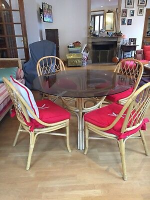 Table Et Chaise Rotin
