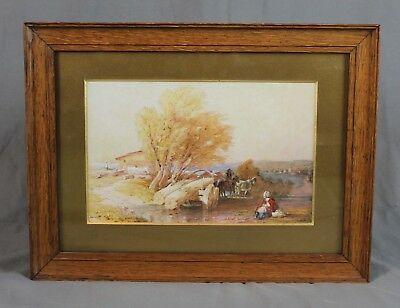 19th Century English Countryside Watercolour Painting