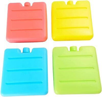 4 New Reusable Freezer Cool Blocks Ice Pack Cooler For Picnic Travel Lunch Box