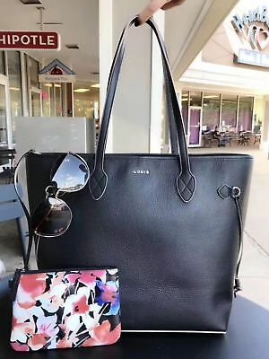 LODIS 100% genuine pebble grain leather Bliss Leather Tote With Wristlet