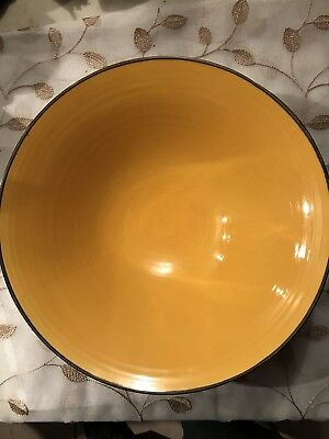 Pottery Fruit Bowl George Wilson Made In England 51/200 Yellow/Black