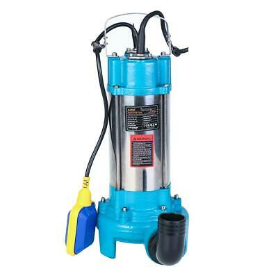 MERRY® 1300w Submersible Sewage Dirty Waste Water Pump With Cutter Shredder