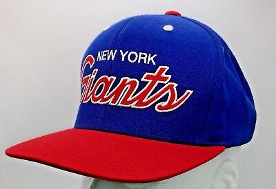 84841aff9 Mitchell   Ness NFL New York Giants Script Snapback Hat Cap Football Blue