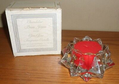 Vintage Avon GEM GLOW  Ruby Red BAYBERRY Fragrance CANDLE in GLASS Holder~BOX