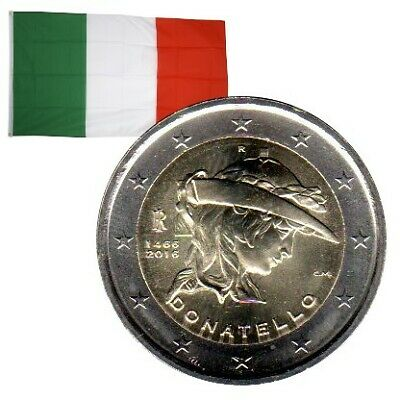 2 Euros commémorative Italie 2016 Donatello