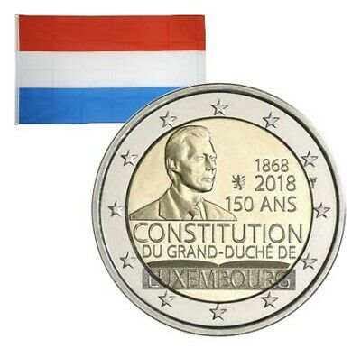 2 Euros commémorative Luxembourg Constitution luxembourgeoise 2018