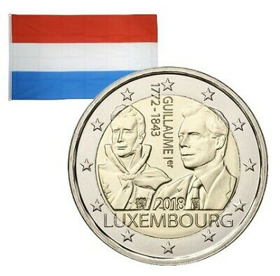 2 Euros commémorative Luxembourg Grand Duc Guillaume Ier 2018