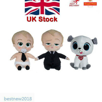 New OFFICIAL DREAMWORKS THE BOSS BABY PLUSH SOFT TOYS Lovely Xmas Gifts