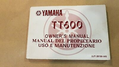 YAMAHA TT 600 1986 manuale uso originale italiano moto owner's manual