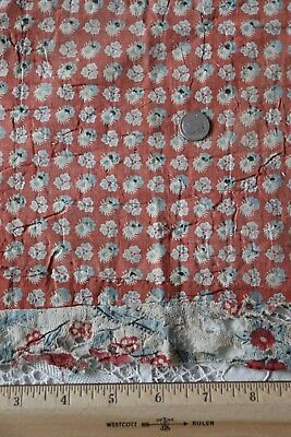 """Rare Old 18thC Printed French Cotton Fabric~L-21"""" X W-12~Dolls"""