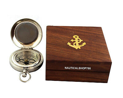 Nautical Compass Dalvey Style Compass Solid Brass Pocket Compass With Box