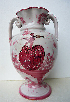 "1920s-30s. ITALY FAIENCE 10"" VASE (Signed)"