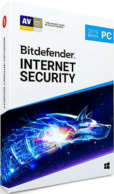 Bitdefender Internet Security 2019 3 PC 1 Year Global  ( Activation Key code)