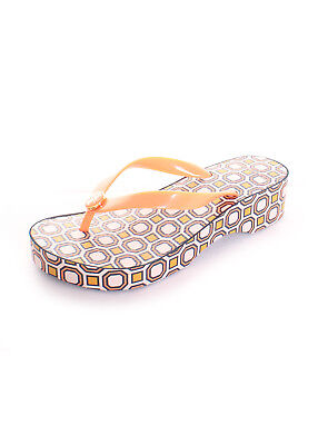8e05de2aec1607 Tory Burch Cut-Out Wedge Flip Flop in Fresh Melon Ballet Pink Octagon