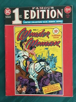 DC Famous 1st Edition F-6 Wonder Woman 1 -  VG/FN Off-White Pages