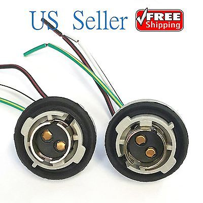 2X 1157 Turn Light Brake Bulb Socket Connector Wire Harness Plug For LED Bulbs