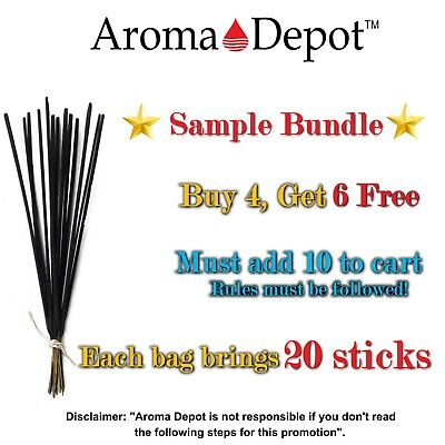 20 Incense Sticks Hand Dipped Buy 4, Get 6 Free Premium Quality Sample Pack