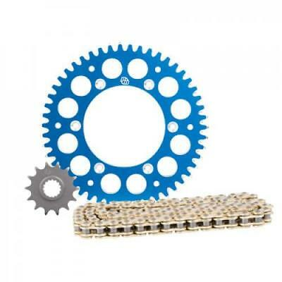 Primary Drive Alloy Kit & Gold X-Ring Chain Blue Rear Sprocket KTM 144 SX 2007-2