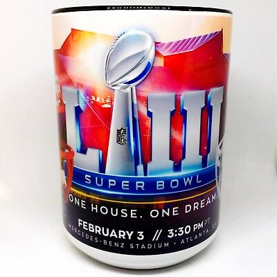 Custom Made SuperBowl LIII 15oz Coffee Mug with your name