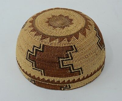 e93e13274c9 ANTIQUE VINTAGE HUPA Yurok Native American Indian Basket Finely ...