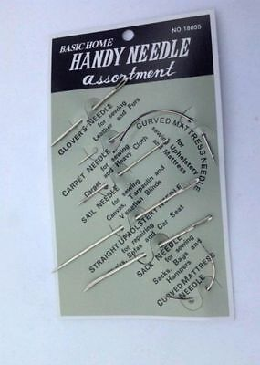 7pcs Stainless steel Hand Repair Sewing Needles Patching Upholstery (Bulk Buy)