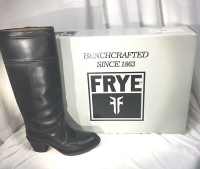 8078f4239fe FRYE NEW JANE Black Western LEATHER Boots Tall Extended Calf NIB Womens 6.5