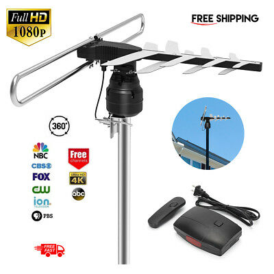 1Byone HDTV 1080P Outdoor Amplified Antenna Digital HD TV UHF VHF FM 180 Miles