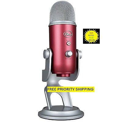 Yeti Steel Red Ultimate USB pro recording microphone NEW FREE PRIORITY SHIPPING