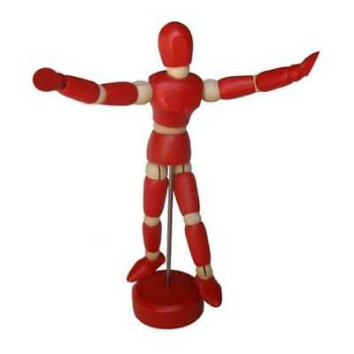 C2F Art Advantage Wood Mannequin on Stand, Red, 4.5 in / Professional