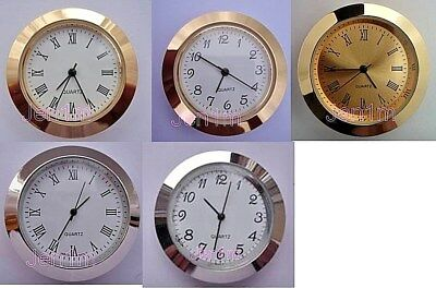 """33mm fit 30mm or 1, 3/16"""" hole / Clock/Watch Insert free spare battery"""