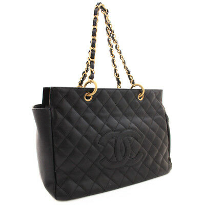 00d5a1f636d9 CHANEL A 18004 Shoulder Bag Matrasse COCO MarkTote Bag Caviar skin leather  Women