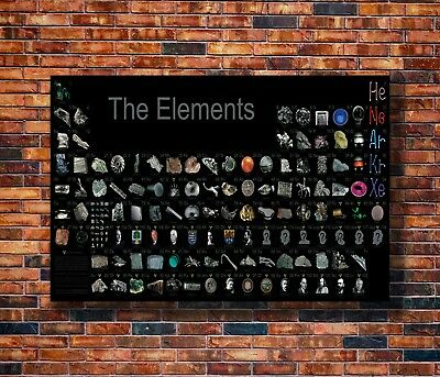 New Periodic Table of the Elements Realistic Poster -14x21 24x36 Art Gift X-2145