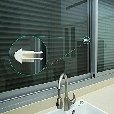 Easy Sliding Door Lock Keyless Adhesive for Child/Baby Safety Proofing Windows,