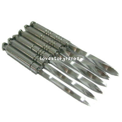 6pcs/Pack Dental Endodontic Drill Reamers Spiral Nordin Conical Screw Posts 32mm