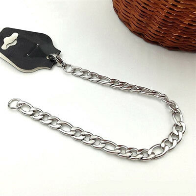 KF_ Men's Fashion Stainless Steel 5mm 7mm Curb Link Chain Necklace Jewelry Mys