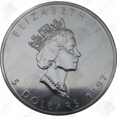1997 Canadian Silver Maple Leaf — 1 Oz — Uncirculated — Sku #12009