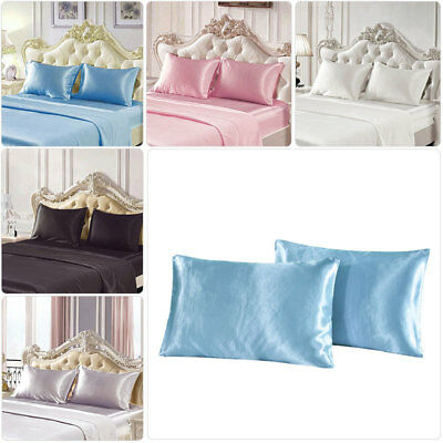 Soft 100% Mulberry Pure Silk Pillowcase Covers Queen Standard Hair Beauty UK