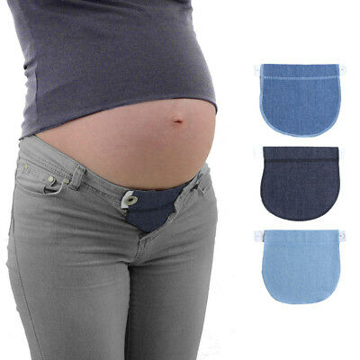 Maternity Pregnancy Elastic Adjustable Waist Jeans Trousers Band Belt Extender