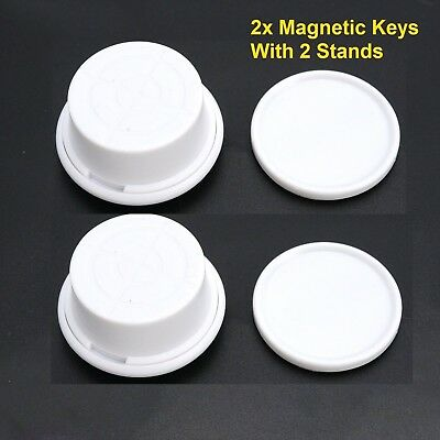 2x Magnetic Keys Baby Safety Invisible Lock Key Child Pet Proof Lock Magnets