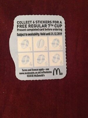 McDonalds coffee vouchers Valid Until 31/12/2019. 127x