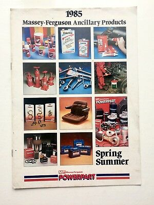 Massey Ferguson 1985 Powerpart Ancillary Products & Accessories Catalogue