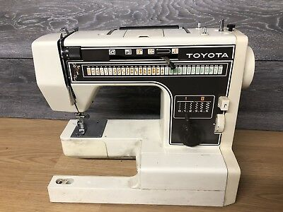 Toyota Model 7001 Sewing Machine, Untested.  NO POWER LEAD OR ACCESSORIES