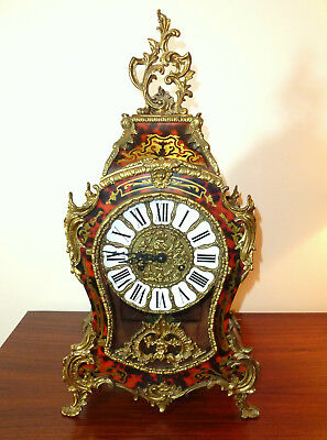 Large Clock in Boulle Type 8-tage-werk - Movement Franz Hermle & Son Gosheim